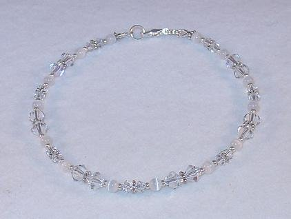 SWAROVSKI CRYSTAL CLEAR~CATS EYE ANKLET