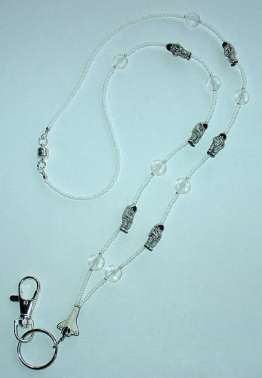 SPACE SHUTTLE & ASTRONAUTS~BEADED LANYARD~ID BADGE HOLDER~LANYARD~BREAK~AWAY