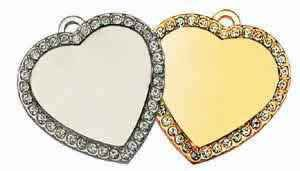 Nickle Plated CZ stone heart
