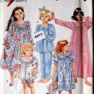 Simplicity Pattern 8093 Size HH 3/6 Girls PJs Nightwear