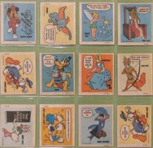 1974 Disney Wonder Bread Stickers Lot of 12