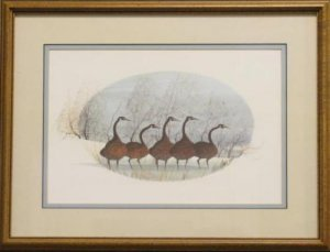 P. Buckely Moss Print 'Masters of the Field' Signed