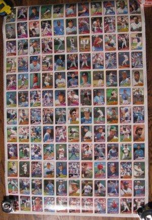 Rare 1989 TOPPS uncut baseball card sheet-Board 3 & 4