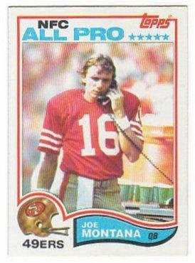 Joe Montana 1982 Topps #488 2nd Year Card