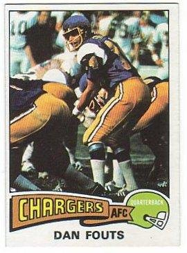 1975 TOPPS #367 DAN FOUTS Chargers Rookie Card