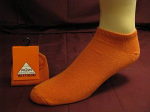 Mens Low Cut Ankle Sock Orange Color Sport Gym Casual
