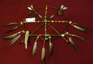 Native American Indian Medicine Wheel Dreamcatcher