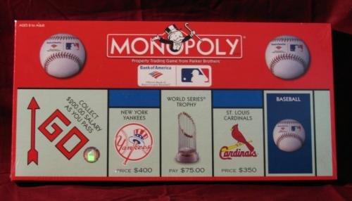 mlb monopoly Item number: mlb9 manufacturer: milton bradley manufacturer part no: mlb9 since 1935, the monopoly game has been bringing families together to buy, sell and build in parker brothers.
