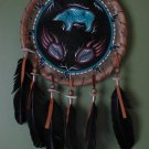 Buffalo Skin Native American Dream Catcher/ Drum