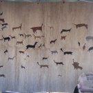 Woven Alpaca rug Rupestry 6.58'x4.91'