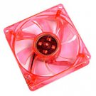 Logisys 120 MM Red LED Case Fan with Molex Four Pin Connector