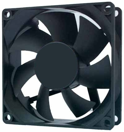 90mm Case Fan with Three Pin and Four Pin Molex Connectors
