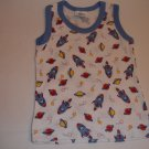 Blue Rocket Sleeveless T-shirt (3-6m)