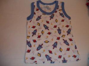 Blue Rocket Sleeveless T-shirt (3-6m)