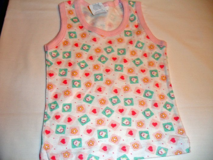 Pink and Red Heart No Sleeve (3-6m)