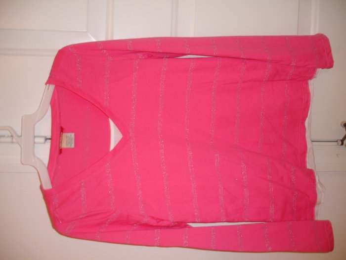 Union Bay Hot Pink and Silver Stripes XL