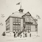 Print of Pen and Ink Drawing of First WFB School 1893