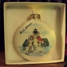 Sand Island, WI Handpainted Porcelain Christmas Ornament