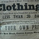 1910's Clothing Store Sale Flyer