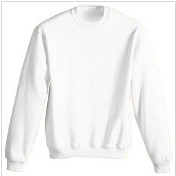 """9.3 oz White sweatshirt by Gildan"""