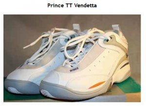 """ Triple Threat Vendetta Women's tennis shoe by Prince, size 10"""