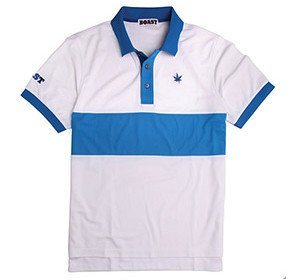 """Boast Color Block polo Blue NEW"""