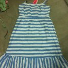 Blue/White Strip Halter Dress