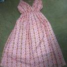 Pink Flora Halter Dress