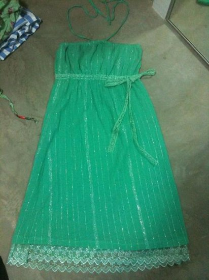 Green Tube/Halter Dress
