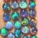 AUSTRALIAN GEM OPAL IDEAL FOR JEWELRY STUDS   25of-4 mm