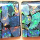 AUSTRALIAN  OPAL TRIPLET PAIR MOSAIC   2of 14x12mm