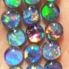 AUSTRALIAN GEM OPAL FOR JEWELRY STUDS 15of-4 mm