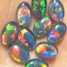 AUSTRALIAN GEM OPAL FOR PENDANTS OR RINGS  10pcs.6x4 mm