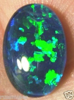 GEM OPAL TRIPLET FOR JEWELRY PENDANT OR RING 14x10mm