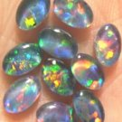 GEM  OPAL TRIPLETS FOR RINGS OR STUDS      10of- 6x4 mm