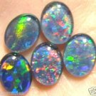 VERY BRIGHT NATURAL OPAL GEM TRIPLET LOT OF 5 - 9x7 mm