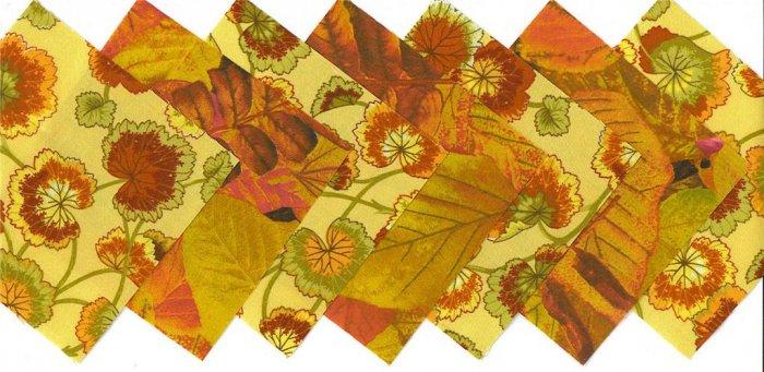 4 inch Fabric Quilt Squares Autumn Rustin 20 sqs
