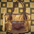 KATHY VAN ZEELAND BROWN TIGER PATTERN PURSE BAG