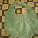 RARE BATH & BODY WORKS GOLDIE GREEN BAG PURSE HANDBAG TOTE