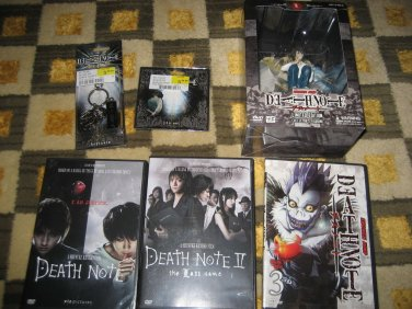 LOT 5 RARE DEATH NOTE LIMITED EDITION COLLECTOR'S FIGURINE 3 II LAST NAME PIN