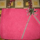 NEW RARE BATH & BODY WORKS GOLDIE PINK BAG PURSE HANDBAG TOTE BOW