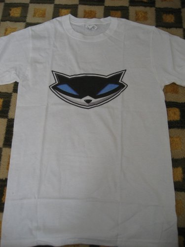 SLY COOPER WHITE T-SHIRT T SHIRT SMALL