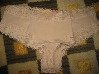 New Victoria Secret PINK Cheekster Panty Extra Low Rise Small S Buff