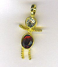January Birthstone Charm Charms Large Boy