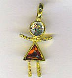 JULY  BIRTHSTONE CHARM  CHARMS LARGE GIRL