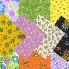 I SPY NOVELTY Flower Floral Assortment  set FS1 Fabric Quilt 4 inch Squares KL1