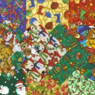 I Spy Christmas Winter Assortment Santa Etc Cotton Quilt Fabric Squares sx1  cc1
