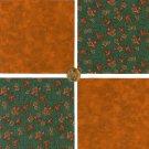 Autumn Foliage  Cotton Fabric Craft Quilt Squares KL1