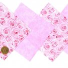 Rose Breast Cancer Awareness Fabric Squares 100% Cotton 1Y  ZY1