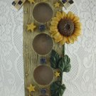"Sunflower and Birdhouse Picture Frame Fits 4 Approx 1 1/2"" Diameter Pics tblan1"